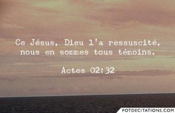 Ce Jésus, Dieu l'a ressuscité ; nous tous, nous en sommes témoins  dans Actes des apôtres